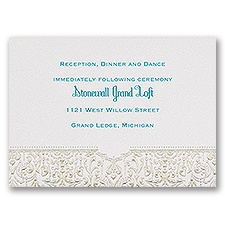 Disney - Bohemian Chic Reception Card