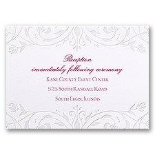 Disney - Dreamy Roses Reception Card