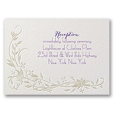 Disney - Flowing Vines Reception Card