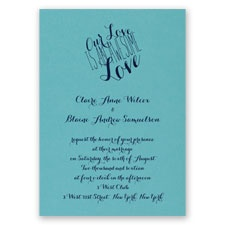 An Awesome Love - Aqua Shimmer - Foil Invitation
