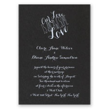 An Awesome Love - Black Shimmer - Foil Invitation