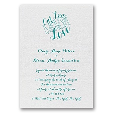 An Awesome Love - White Shimmer - Foil Invitation