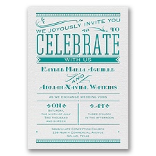 Big News White Shimmer Foil White Wedding Invitation