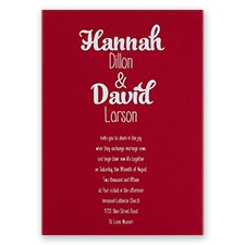 Kinda Quirky - Red - Foil Invitation