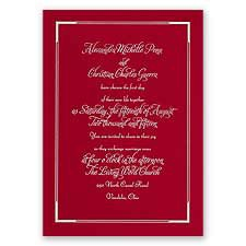 Looking Sharp Red Foil Wedding Invitation
