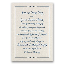Dots of Love - Ecru Shimmer - Foil Invitation