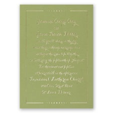 Dots of Love - Olive - Foil Invitation