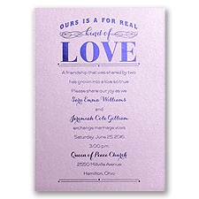 Real Love - Lilac Shimmer - Foil Invitation