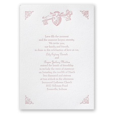 Open to Love - White - Featherpress Invitation