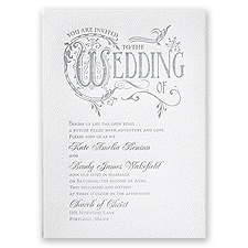 Storybook Style - White - Featherpress Invitation