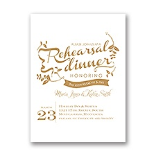 Natural Touch - Petite Rehearsal Dinner Invitation