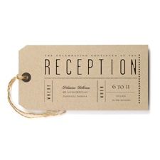 Just the Ticket - Reception Card