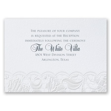 Pearl Vines - Reception Card