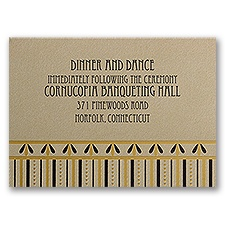 Gatsby Glam - Reception Card