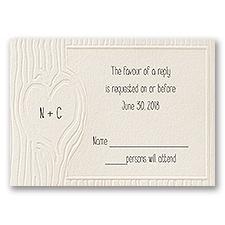 Heartfelt - Ecru - Response Card