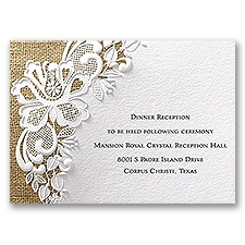 Lacy Dream - Reception Card