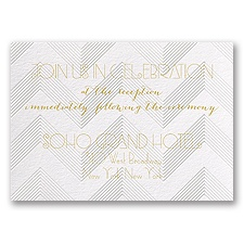 Pearl Chevron - Reception Card