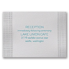 Pearl Burlap - Reception Card