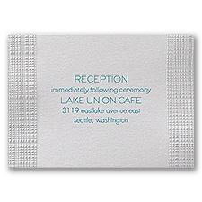 Pearl Burlap - Reception Card