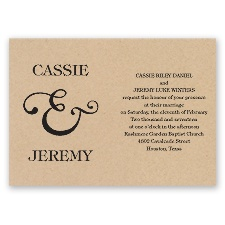 Amp It Up Brown Wedding Invitation