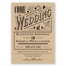 Big Celebration Wedding Invitation