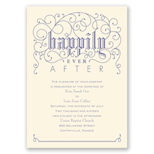 Filigree Whimsy - Ecru - Invitation