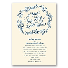 True Love Story Ecru Wedding Invitation