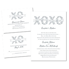 XOXO - 3 for 1 Invitation