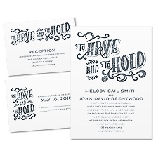 Forever Trendy 3 for 1 Wedding Invitation