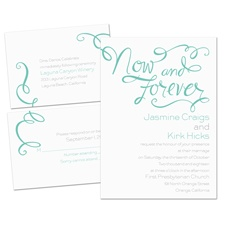 Now and Forever 3 for 1 Wedding Invitation