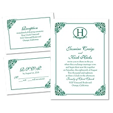 Elegant Finish 3 for 1 Wedding Invitation