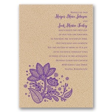 Floral Fancy Kraft Wedding Invitation
