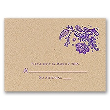 Floral Fancy - Kraft - Response Card