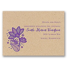 Floral Fancy - Kraft - Reception Card
