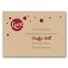 Love for Retro - Kraft - Reception Card
