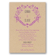 Nature Blooms Kraft Wedding Invitation