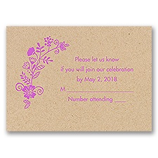 Nature Blooms - Kraft - Response Card