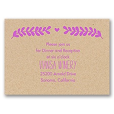 Nature Blooms - Kraft - Reception Card