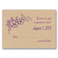 Charming Wildflowers - Kraft - Response Card