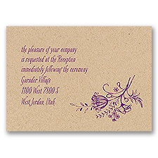 Charming Wildflowers - Kraft - Reception Card