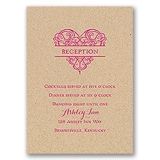 Full of Love - Kraft - Reception Card