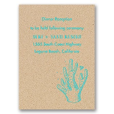 Under the Sea - Kraft - Reception Card