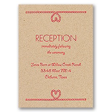 Flowers and Horseshoes - Kraft - Reception Card