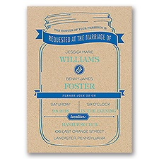 Love Preserved Kraft Wedding Invitation