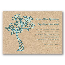 Heart Blossoms - Kraft - Invitation