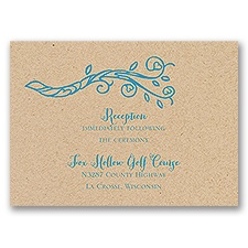 Heart Blossoms - Kraft - Reception Card