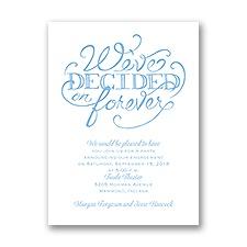 Big Decision - Petite Engagement Party Invitation