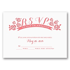 Flowers and Ribbon - Response Card