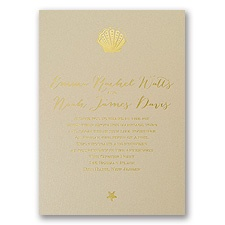 Sun Kissed Foil Wedding Invitation
