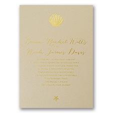 Sun Kissed Foil Wedding Invitation
